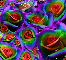 Rainbow Roses  by Make-It-Mico