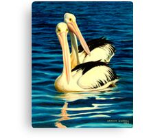 PELICANS, FOSTER, N.S.W. Canvas Print