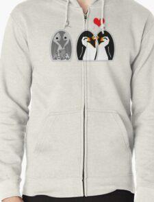 Penguin Love  Zipped Hoodie