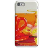 Cups and tulips iPhone Case/Skin