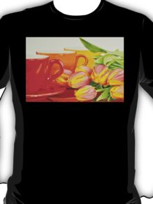 Cups and tulips T-Shirt
