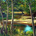 CREEK AT WOLLOMBI-01 by HAMISH CUMING