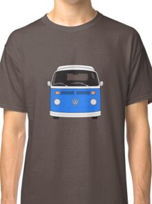 Late Bay VW Camper Mid-Blue Front Classic T-Shirt