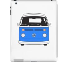 Late Bay VW Camper Mid-Blue Front iPad Case/Skin