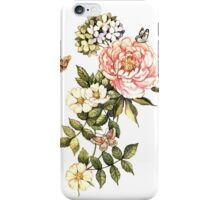 Watercolor vintage floral motifs iPhone Case/Skin