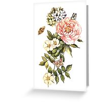 Watercolor vintage floral motifs Greeting Card