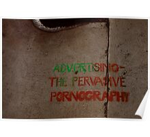 advertising ... the pervasive pornography Poster