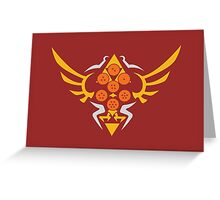 Hylian Dragon Ball Crest (gold & orange) Greeting Card