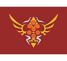 Hylian Dragon Ball Crest (gold & orange) Photographic Print