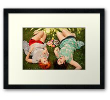 days of fun and frolic Framed Print