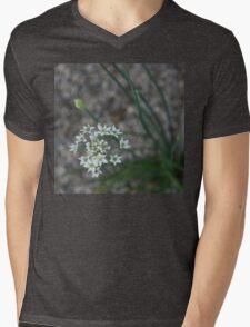 Calming Grays and White Stars Mens V-Neck T-Shirt