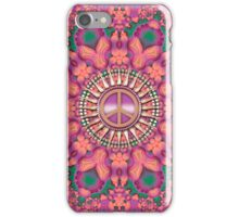Pink Fractal Bling Peace iPhone iPod Case iPhone Case/Skin