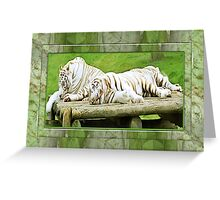 whitetigers Greeting Card
