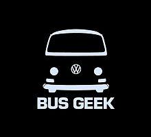 VW Camper Bus Geek Pale Blue by splashgti