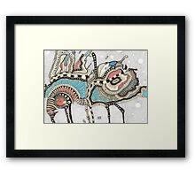 Coffee insect and sandy storm Framed Print