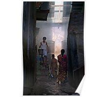 Street Scene from Old Varanasi, India  Poster