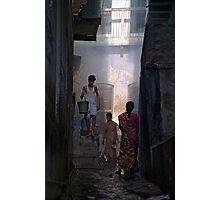 Street Scene from Old Varanasi, India  Photographic Print