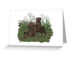 March Puppy Greeting Card