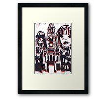 Lino cut B&R Framed Print