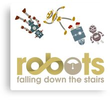 Robots Falling Down the Stairs Canvas Print