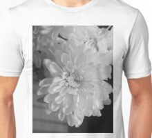 White Bloom (Balck And White) Unisex T-Shirt