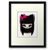 little scary doll Framed Print