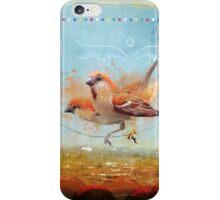 Cinnamon Sparrows, Kathmandu, 1990 iPhone Case/Skin