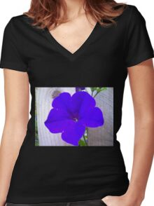 Pop Bloom Women's Fitted V-Neck T-Shirt