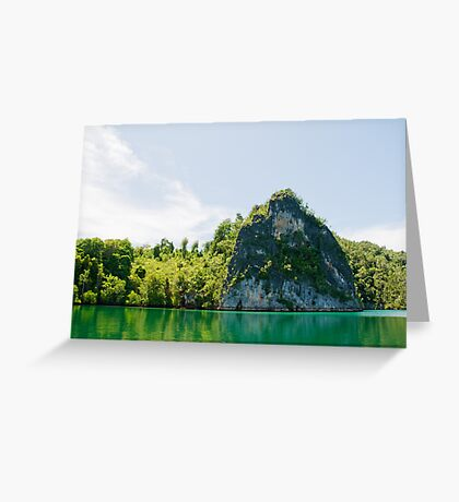 Green & Tranquil Greeting Card
