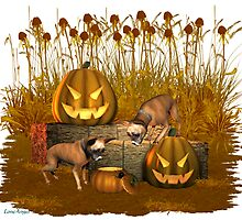 October Puppy .. a halloween tale by LoneAngel