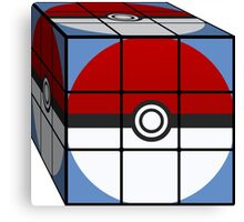 Poke Ball Rubik's Cube Canvas Print