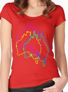 Jittered Australia Women's Fitted Scoop T-Shirt