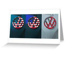 VW Triptych Greeting Card