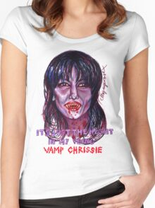 Vamp Chrissie Women's Fitted Scoop T-Shirt