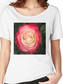 Rose and Rain - Pinks and Creams and Whites Women's Relaxed Fit T-Shirt