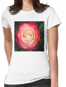Rose and Rain - Pinks and Creams and Whites Womens Fitted T-Shirt