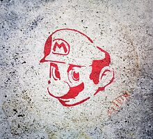 Super Mario Bros Urban Hip Hop Wall Tag by Pepe Psyche