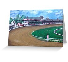 Saratoga Race Track In August Greeting Card