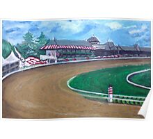 Saratoga Race Track In August Poster