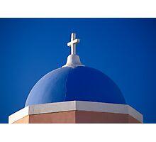 Church Dome, Santorini (Greece)  Photographic Print