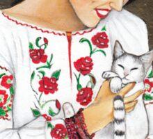 Folk art - Happy time Sticker