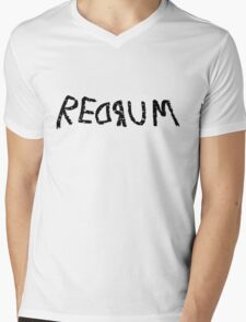 Redrum Mens V-Neck T-Shirt