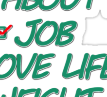 Dear Family Please Don't Ask Me About My Job Love Life Weight Personal Choices Sticker
