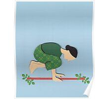 Kakasana - CROW yoga posture Poster