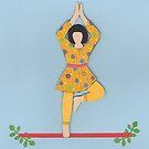 Vriksasana - TREE yoga posture by Marikohandemade