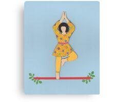 Vriksasana - TREE yoga posture Canvas Print