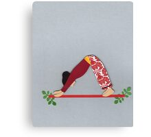 Adho Mukha Svanasana - DOWNWARD-FACING DOG yoga posture Canvas Print
