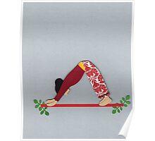 Adho Mukha Svanasana - DOWNWARD-FACING DOG yoga posture Poster
