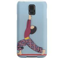 Ardha Virabhadrasana - HALF WARRIOR yoga posture Samsung Galaxy Case/Skin