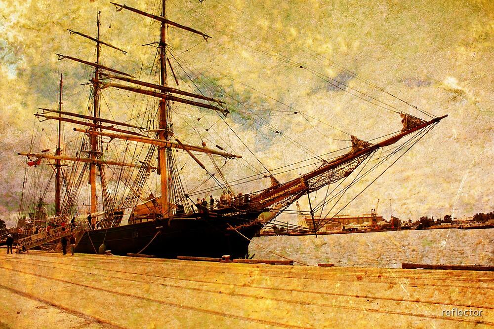 The James Craig Tall Ship by reflector